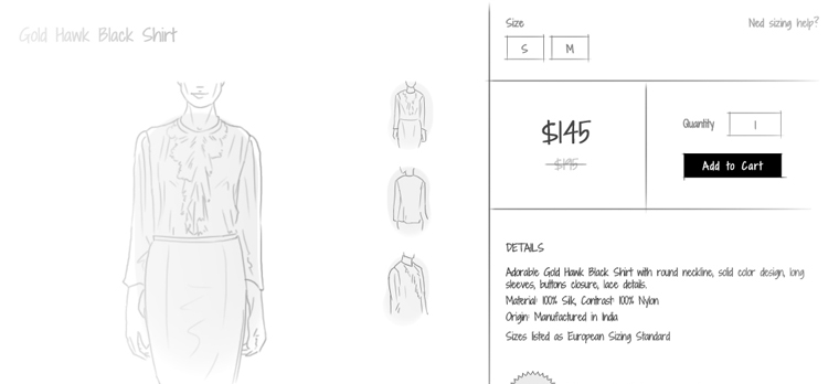 eCommerce product page CTA: The 'Buy' button
