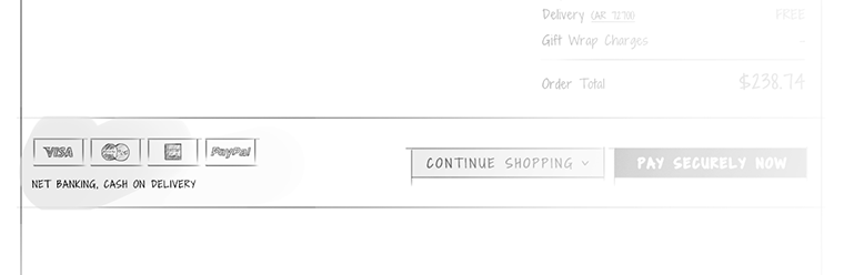 Show different payment options in the cart page